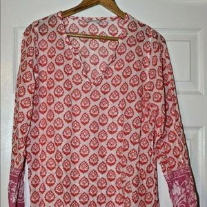 ME Mary Ellen Tribal Print Top Cover-Up Size M/L